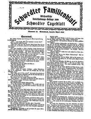 Schwedter Tageblatt vom 10.04.1926