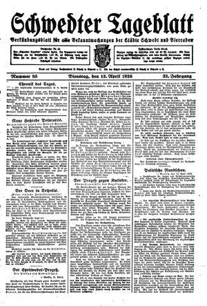 Schwedter Tageblatt vom 13.04.1926