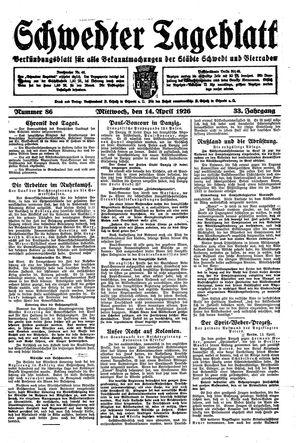 Schwedter Tageblatt vom 14.04.1926