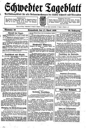 Schwedter Tageblatt vom 17.04.1926