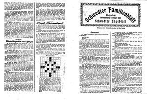 Schwedter Tageblatt vom 01.05.1926