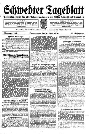 Schwedter Tageblatt vom 06.05.1926
