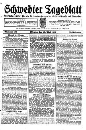 Schwedter Tageblatt vom 10.05.1926
