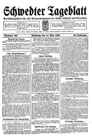 Schwedter Tageblatt vom 11.05.1926