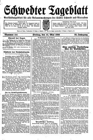 Schwedter Tageblatt vom 14.05.1926