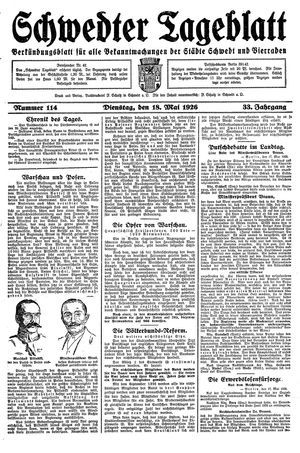Schwedter Tageblatt vom 18.05.1926