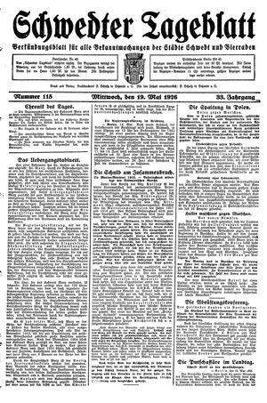 Schwedter Tageblatt vom 19.05.1926
