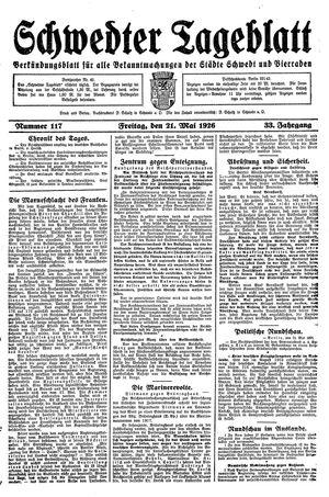 Schwedter Tageblatt vom 21.05.1926
