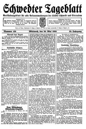 Schwedter Tageblatt vom 26.05.1926