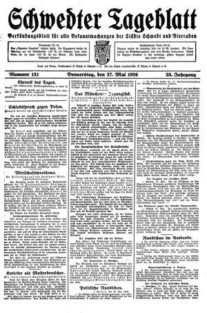 Schwedter Tageblatt vom 27.05.1926