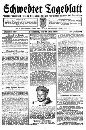 Schwedter Tageblatt vom 29.05.1926
