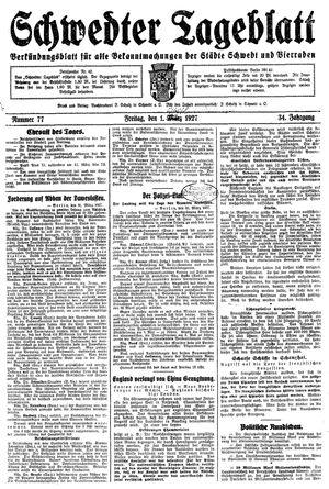 Schwedter Tageblatt vom 01.04.1927