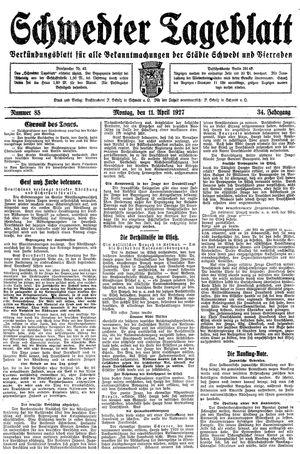 Schwedter Tageblatt vom 11.04.1927