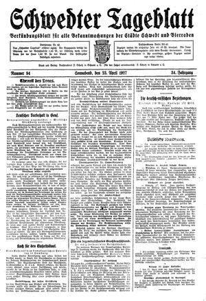 Schwedter Tageblatt vom 23.04.1927