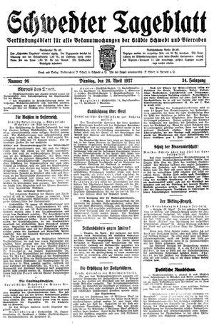 Schwedter Tageblatt vom 26.04.1927