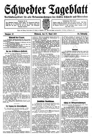 Schwedter Tageblatt on Apr 27, 1927