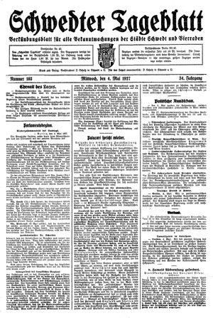 Schwedter Tageblatt vom 04.05.1927