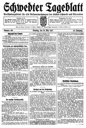 Schwedter Tageblatt vom 10.05.1927