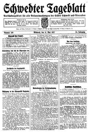 Schwedter Tageblatt vom 11.05.1927