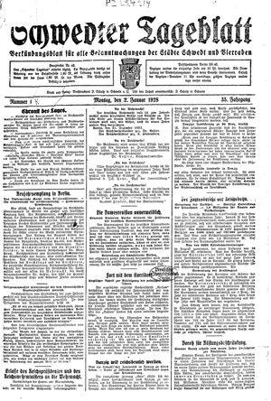 Schwedter Tageblatt vom 02.01.1928