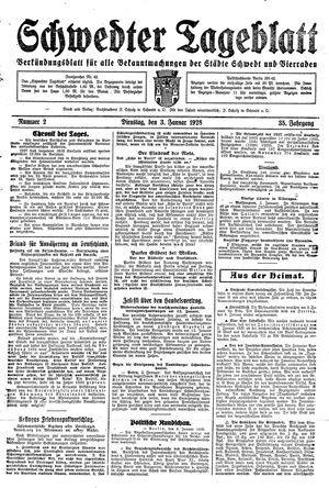Schwedter Tageblatt vom 03.01.1928