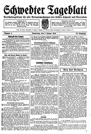 Schwedter Tageblatt vom 05.01.1928