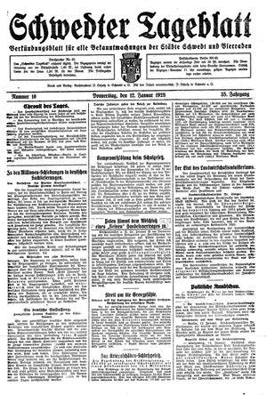 Schwedter Tageblatt on Jan 12, 1928