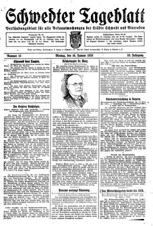 Schwedter Tageblatt on Jan 16, 1928