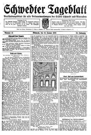 Schwedter Tageblatt vom 18.01.1928