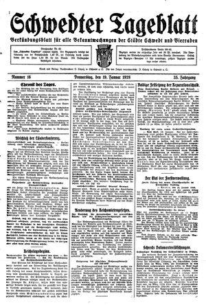 Schwedter Tageblatt vom 19.01.1928