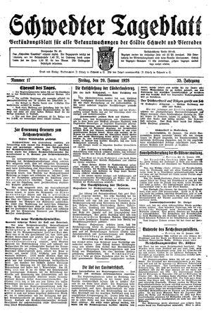 Schwedter Tageblatt vom 20.01.1928
