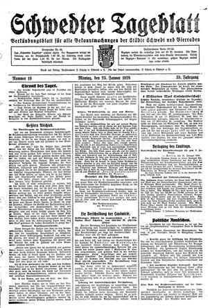 Schwedter Tageblatt vom 23.01.1928
