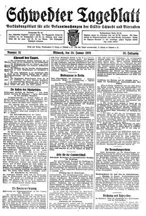 Schwedter Tageblatt vom 25.01.1928