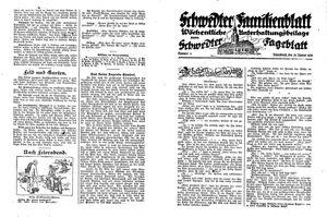 Schwedter Tageblatt vom 28.01.1928