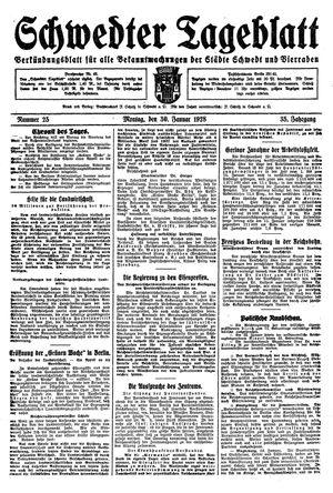 Schwedter Tageblatt vom 30.01.1928