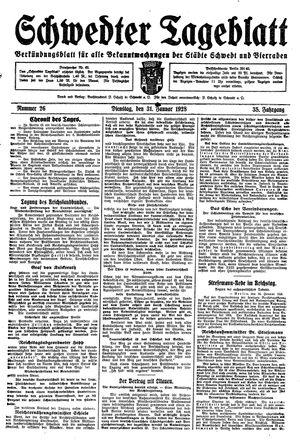 Schwedter Tageblatt vom 31.01.1928