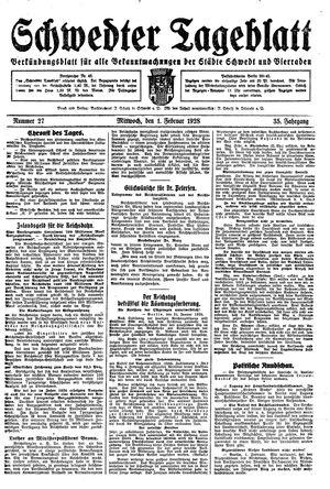 Schwedter Tageblatt vom 01.02.1928