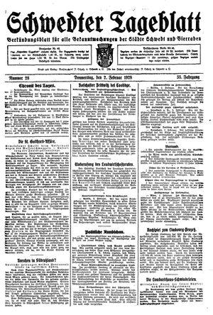 Schwedter Tageblatt vom 02.02.1928