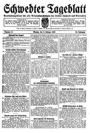 Schwedter Tageblatt vom 06.02.1928
