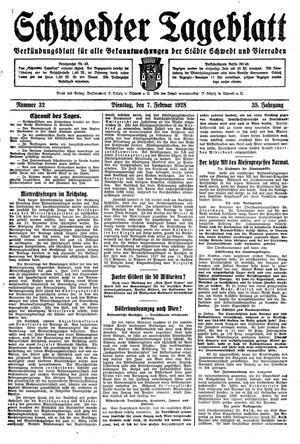 Schwedter Tageblatt vom 07.02.1928