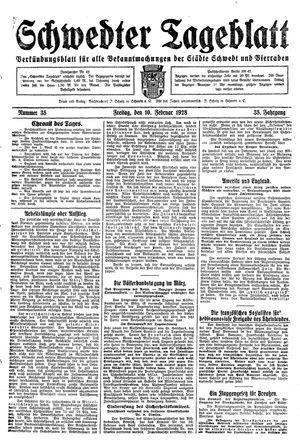 Schwedter Tageblatt vom 10.02.1928