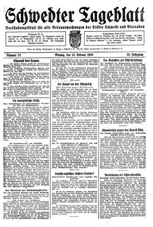 Schwedter Tageblatt vom 13.02.1928