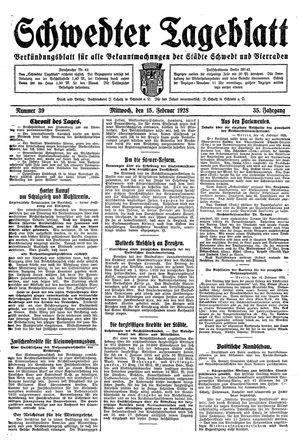 Schwedter Tageblatt vom 15.02.1928