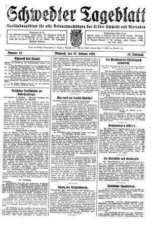 Schwedter Tageblatt vom 22.02.1928