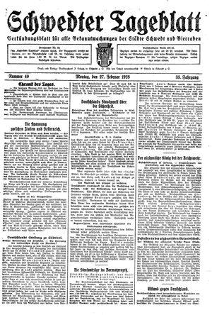 Schwedter Tageblatt vom 27.02.1928