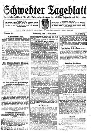 Schwedter Tageblatt on Mar 1, 1928