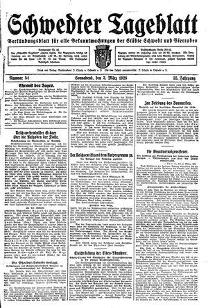 Schwedter Tageblatt vom 03.03.1928
