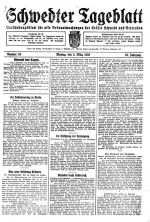 Schwedter Tageblatt vom 05.03.1928