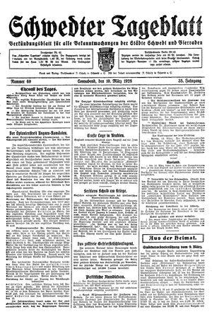 Schwedter Tageblatt vom 10.03.1928