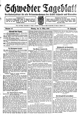 Schwedter Tageblatt vom 12.03.1928
